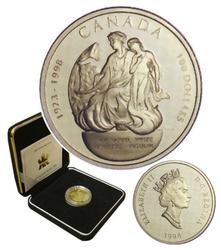 100 DOLLARS -  75E ANNIVERSAIRE DU PRIX NOBEL POUR LA DÉCOUVERTE DE L'INSULINE -  PIÈCES DU CANADA 1998 23