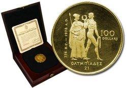 100 DOLLARS -  LES OLYMPIQUES DE MONTRÉAL -  PIÈCES DU CANADA 1976 01B