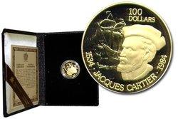 100 DOLLARS -  VOYAGE DE DÉCOUVERTE DE JACQUES CARTIER -  PIÈCES DU CANADA 1984 09