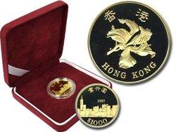 1000 YUAN -  HONG KONG - PIÈCE EN OR 22 CARATS 1997