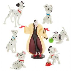 101 DALMATIENS, LA -  ENSEMBLE DE 7 FIGURINES