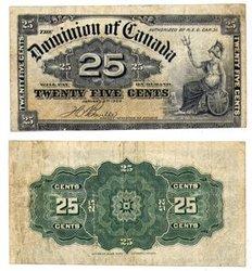 1900 -  25 CENTS PAPIER 1900, BOVILLE (EF)