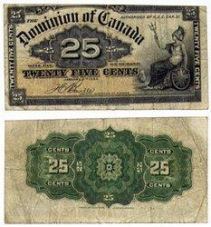 1900 -  25 CENTS PAPIER 1900, BOVILLE (VF)