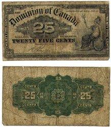 1900 -  25 CENTS PAPIER 1900, BOVILLE (VG)