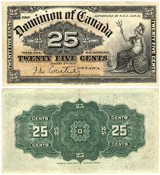 1900 -  25 CENTS PAPIER 1900, COURTNEY (AU)