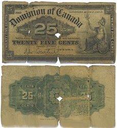 1900 -  25 CENTS PAPIER 1900, COURTNEY (G)
