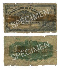 1900 -  25 CENTS PAPIER 1900, SAUNDERS (AG)