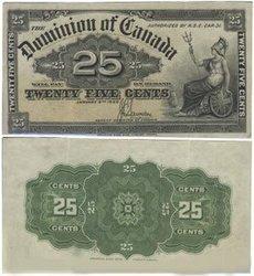 1900 -  25 CENTS PAPIER 1900, SAUNDERS (AU)