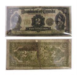 1914 -  2 DOLLARS 1914,  HYNDMAN/SAUNDERS (VG)
