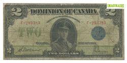 1923 -  2 DOLLARS 1923, MCCAVOUR/SAUNDERS (F)
