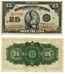 1923 -  25 CENTS EN PAPIER 1923, CAMPBELL/CLARK (AU)