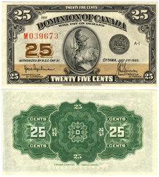 1923 -  25 CENTS EN PAPIER 1923, HYNDMAN/SAUNDERS (AU)