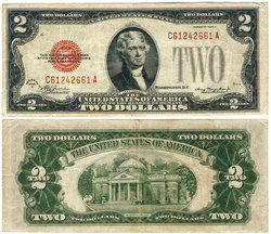 1928 -  2 DOLLARS DES ETATS-UNIS