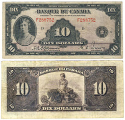 1935 -  10 DOLLARS 1935, OSBORNE/TOWERS (VF)