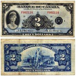 1935 -  2 DOLLARS 1935, OSBORNE/TOWERS (F)