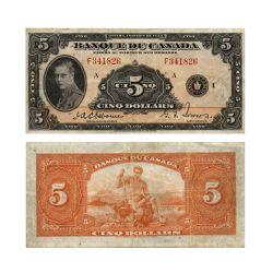 1935 -  5 DOLLARS 1935, OSBORNE/TOWERS (EF)