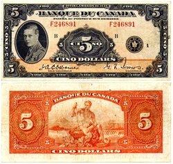 1935 -  5 DOLLARS 1935, OSBORNE/TOWERS (VF)