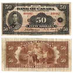1935 -  50 DOLLARS 1935 ANGLAIS, OSBORNE/TOWERS (VF)