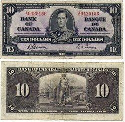 1937 -  10 DOLLARS 1937, GORDON/TOWERS (F)