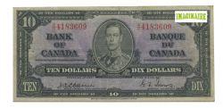 1937 -  10 DOLLARS 1937, OSBORNE/TOWERS (VF)