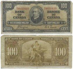 1937 -  100 DOLLARS 1937, COYNE/TOWERS (F)
