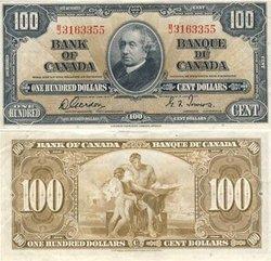 1937 -  100 DOLLARS 1937, GORDON/TOWERS (AU)