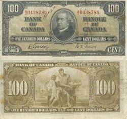 1937 -  100 DOLLARS 1937, GORDON/TOWERS (F)
