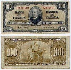 1937 -  100 DOLLARS 1937, GORDON/TOWERS (VF)