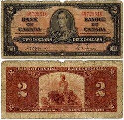 1937 -  2 DOLLARS 1937, OSBORNE/TOWERS (G)