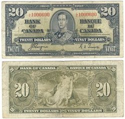 1937 -  20 DOLLARS 1937, COYNE/TOWERS (F)