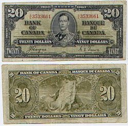 1937 -  20 DOLLARS 1937, COYNE/TOWERS (VF)