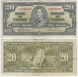 1937 -  20 DOLLARS 1937, GORDON/TOWERS (VF)
