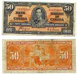 1937 -  50 DOLLARS 1937, COYNE/TOWERS (F)