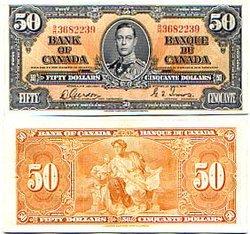 1937 -  50 DOLLARS 1937, GORDON/TOWERS (AU)