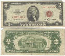 1953 -  2 DOLLARS DES ÉTATS-UNIS