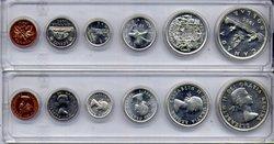 1953-79 -  ENSEMBLE DE PIÈCES DE CIRCULATION 1955