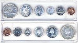 1953-79 -  ENSEMBLE DE PIÈCES DE CIRCULATION 1960