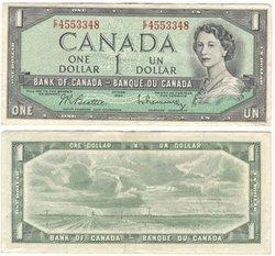 1954 - PORTRAIT MODIFIE -  1 DOLLAR 1954, BEATTIE/RASMINSKY (VF)
