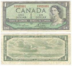 1954 - PORTRAIT MODIFIE -  1 DOLLAR 1954, LAWSON/BOUEY (F)