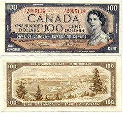 1954 - PORTRAIT MODIFIE -  100 DOLLARS 1954, LAWSON/BOUEY (EF)