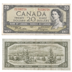 1954 - PORTRAIT MODIFIE -  20 DOLLARS 1954, BEATTIE/COYNE (F)