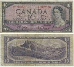 1954 - VISAGE DU DIABLE -  10 DOLLARS 1954, COYNE/TOWERS (F)