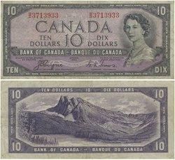 1954 - VISAGE DU DIABLE -  10 DOLLARS 1954, COYNE/TOWERS (VF)