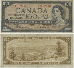 1954 - VISAGE DU DIABLE -  100 DOLLARS 1954, COYNE/TOWERS (VG)