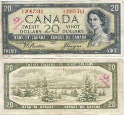 1954 - VISAGE DU DIABLE -  20 DOLLARS 1954, BEATTIE/COYNE (F)