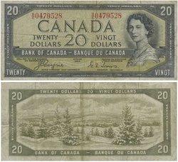 1954 - VISAGE DU DIABLE -  20 DOLLARS 1954, COYNE/TOWERS (VG)