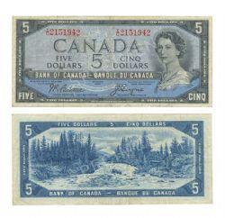 1954 - VISAGE DU DIABLE -  5 DOLLARS 1954, BEATTIE/COYNE (F)