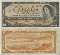 1954 - VISAGE DU DIABLE -  50 DOLLARS 1954, COYNE/TOWERS (F)