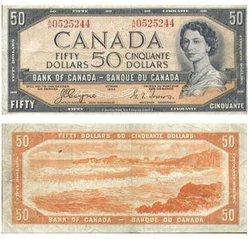 1954 - VISAGE DU DIABLE -  50 DOLLARS 1954, COYNE/TOWERS (VG)