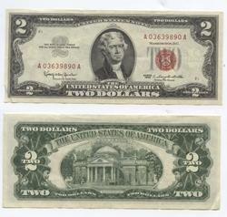 1963 -  2 DOLLARS 1963 DES ÉTATS-UNIS (EF)